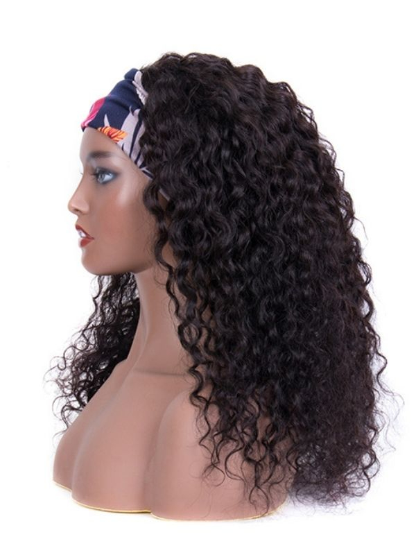 130% Haardichte Water Wave Black Human Hair Perücke HBWW