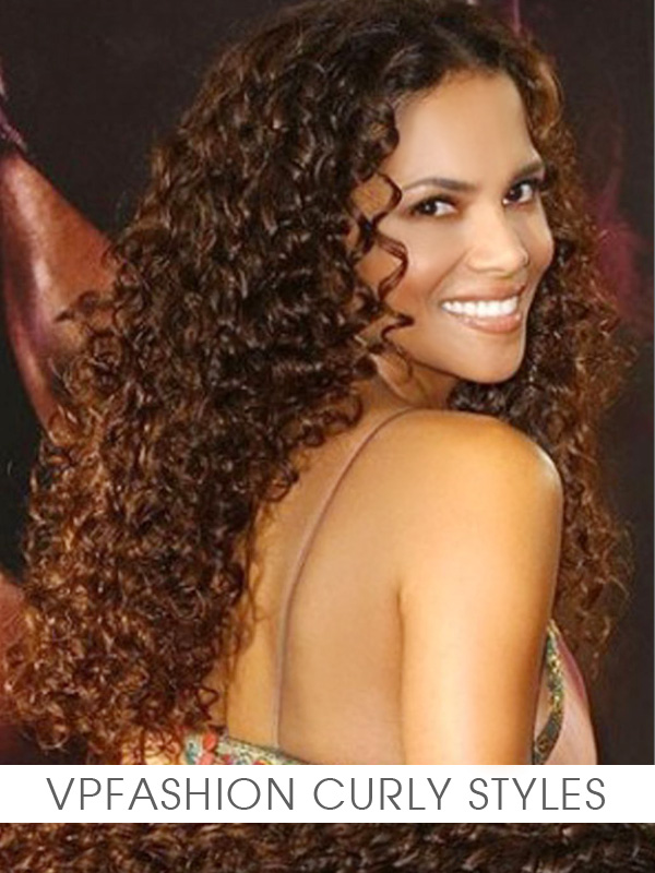 Curly Ombre remy clip in hair extensions N016