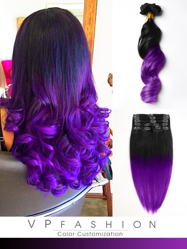 heißer verkauf rabatt beste Seite USA billig verkaufen Dunkelbraun Indigo clip in hair extensions echthaar C023 ...
