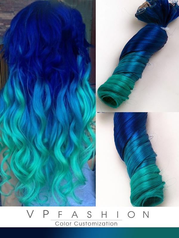 Blaue Haarfarbe Directions Mittellange Haare