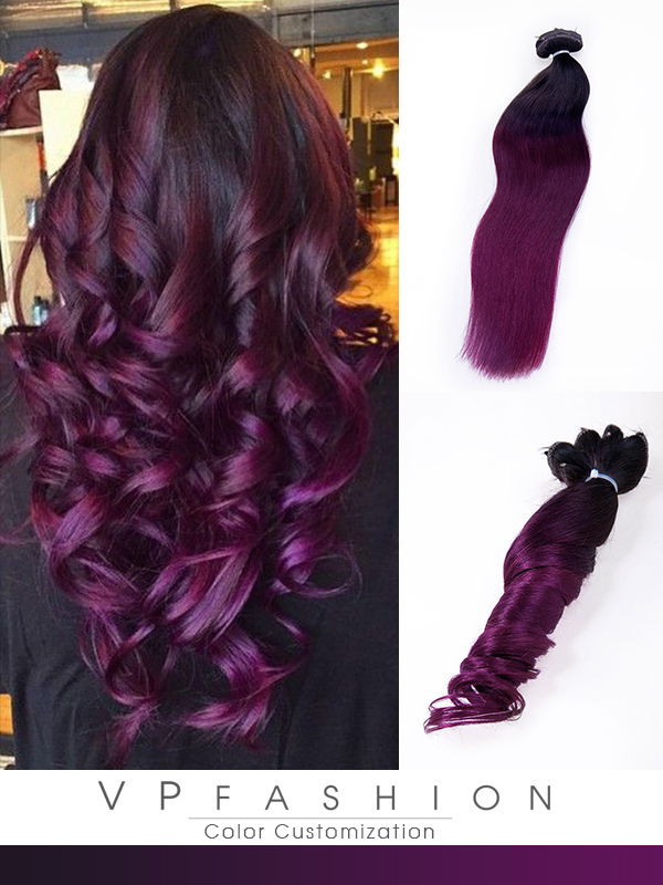 Mulberre rote Clip In Extensions aus Echthaar C053