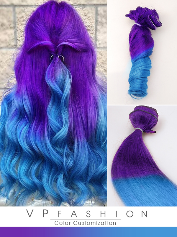 Haare blau lila Schön rot,