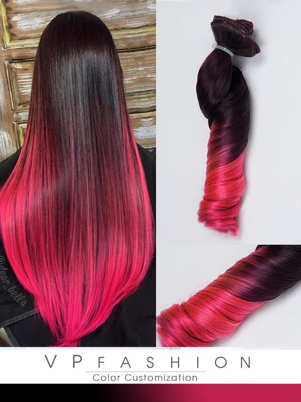 Haare von rot auf pink