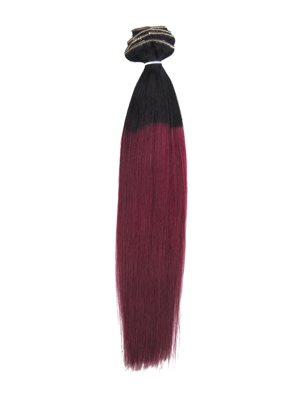 55cm 198g Echthaar Clip in Farbig Sale Extensions TP-1