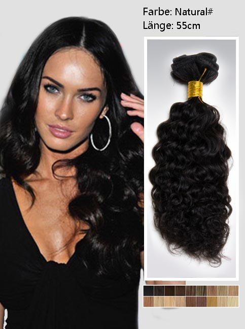 55cm 2# Indian Remy Haar Extensions mit Clips gc222 (125g)