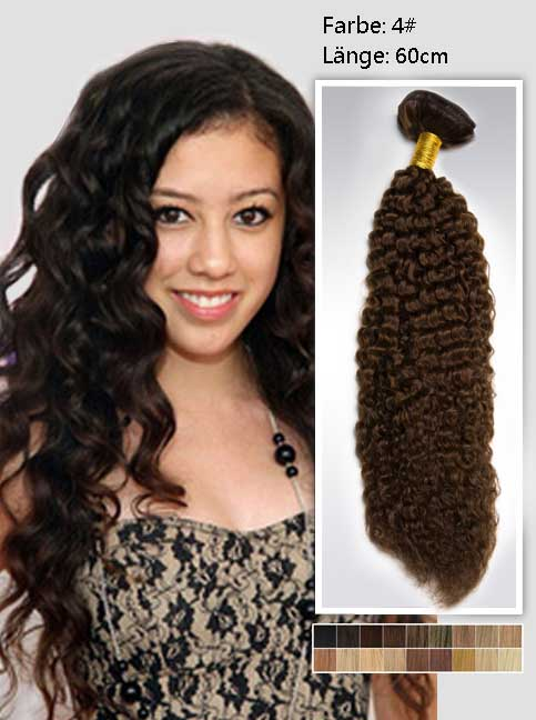 60cm 4# Indian Remy Haar Extensions mit Clips gc424 (135g)