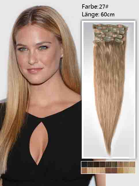 60cm 27# Indian Remy Haar Extensions mit Clips gs2724 (135g)
