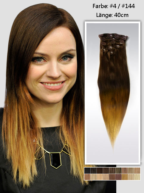 40cm Indian Remy Haar Extensions mit Clips gso1116 (95g)