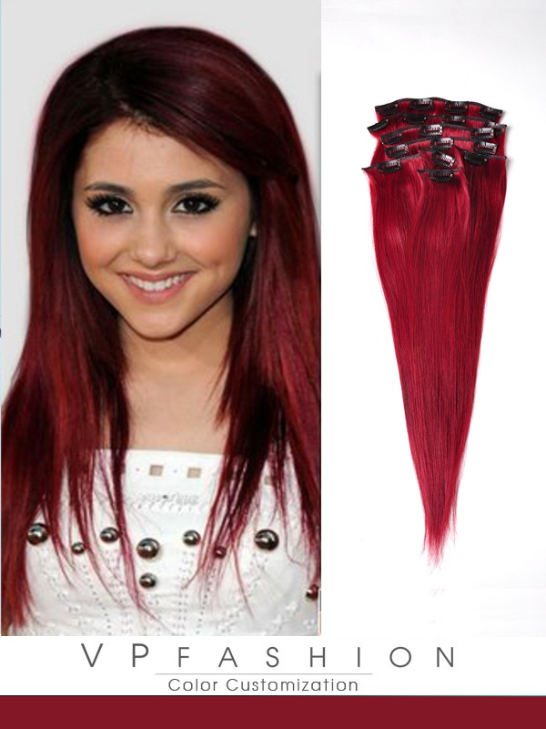 50cm 51# Indian Remy Haar Extensions mit Clips gso420 (115g)