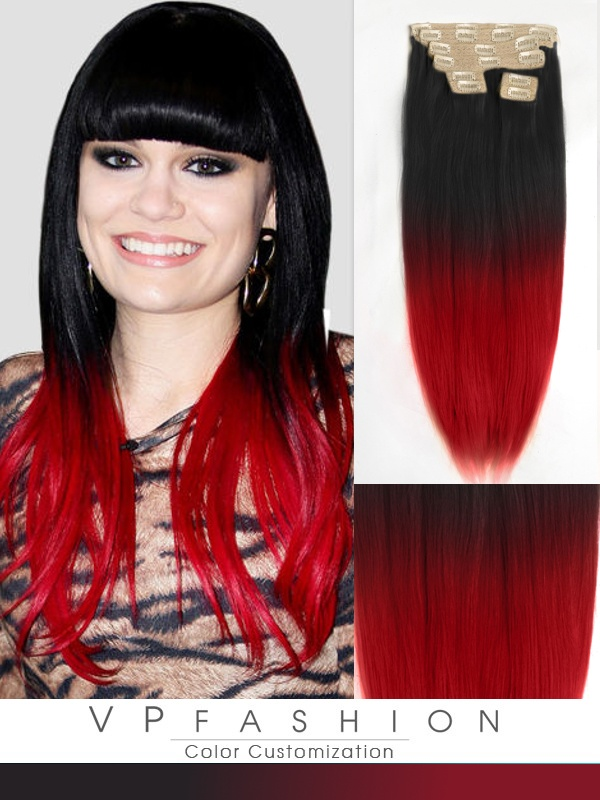 45cm Indian Remy Haar Extensions mit Clips gso618 (100g)