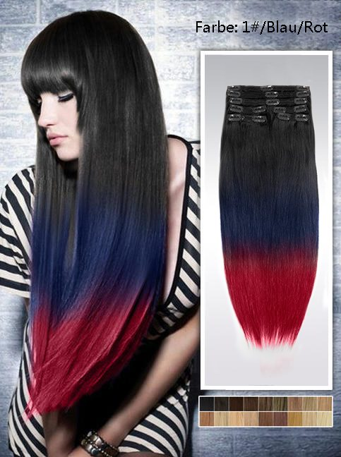 60cm Indian Remy Haar Extensions mit Clips gso624