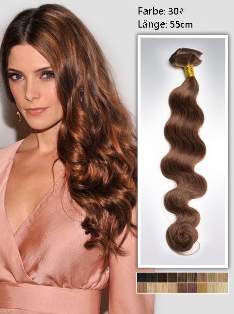55cm 30# Indian Remy Haar Extensions mit Clips gw3022 (125g)