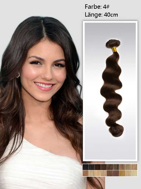 40cm 4# Indian Remy Haar Extensions mit Clips gw416 (95g)