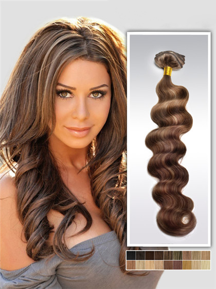 55cm Highlights Remy Haar Extensions mit Clips gwm622 (125g)