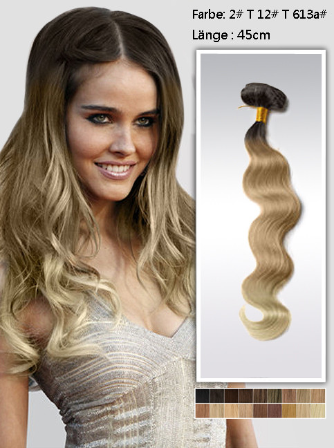 45cm Indian Remy Haar Extensions mit Clips gwo1218 (100g)