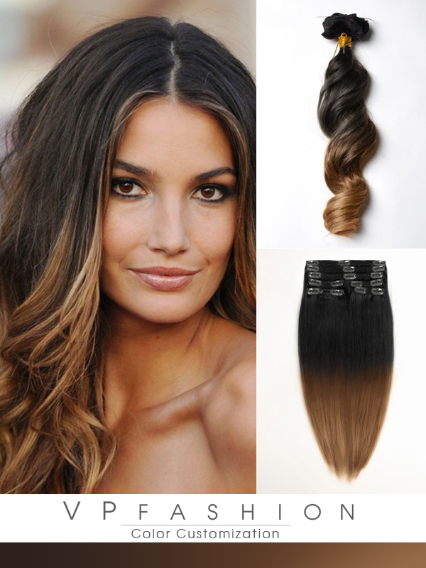 50cm Indian Remy Haar Extensions mit Clips gwo720(115g)