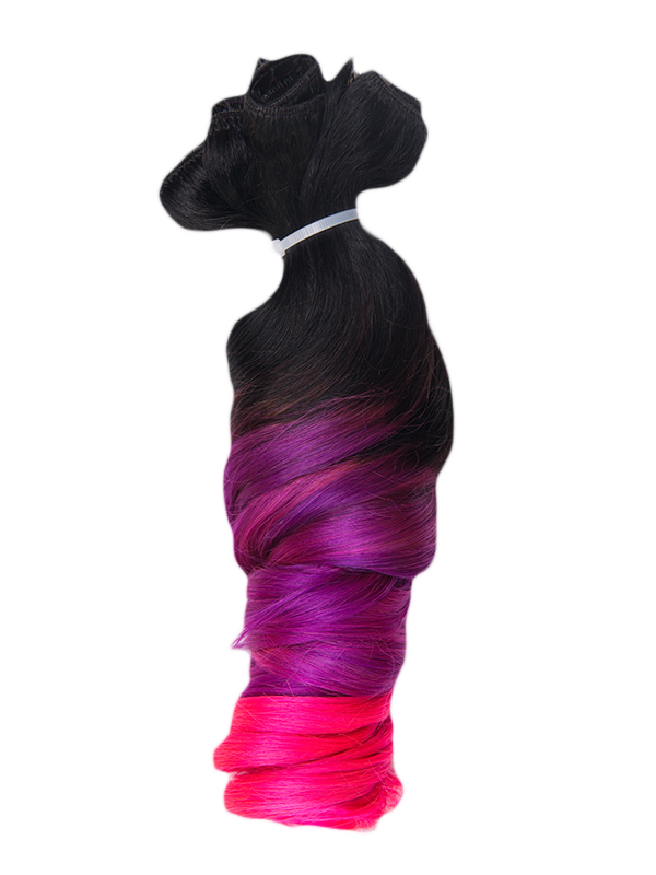 55cm 215g Echthaar Clip in Farbig Sale Extensions TP-49