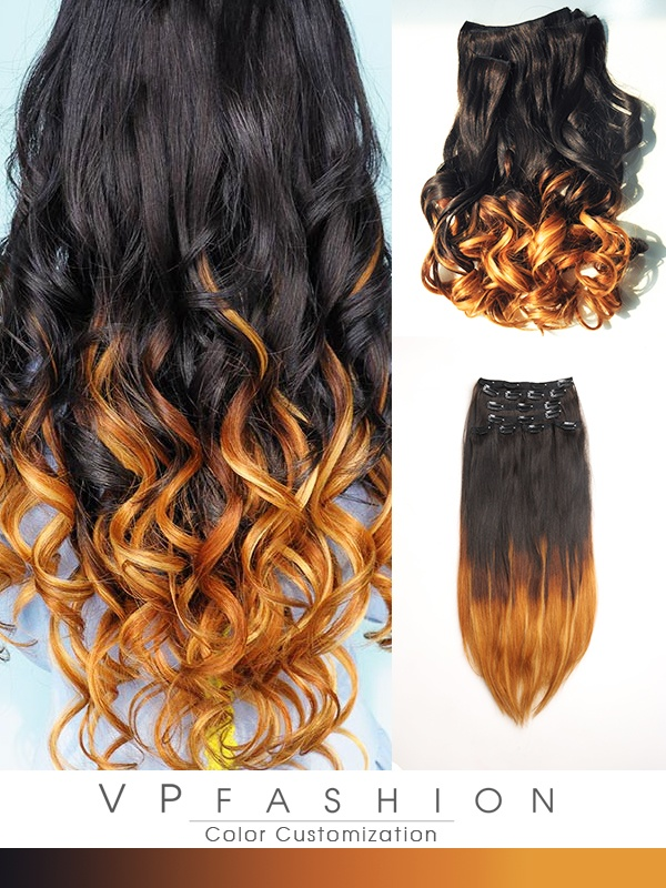 Vpfashion Echthaar Extensions mit Clips gwo1622