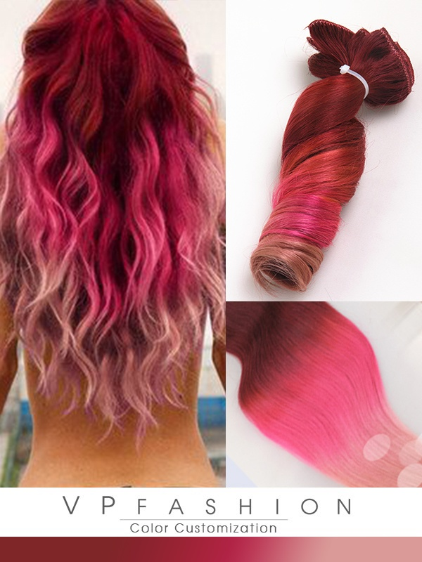 Mermaid red hair color