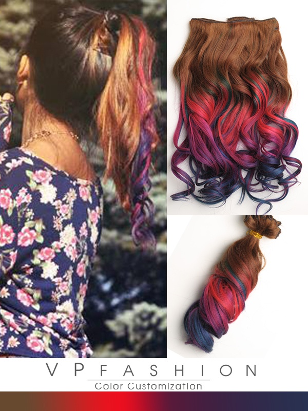 Pastell Ombre Echthaar Remy Clip in Extensions C3001