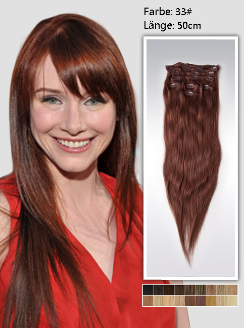 50cm 33# Indian Remy Haar Extensions mit Clips gs3320 (115g)