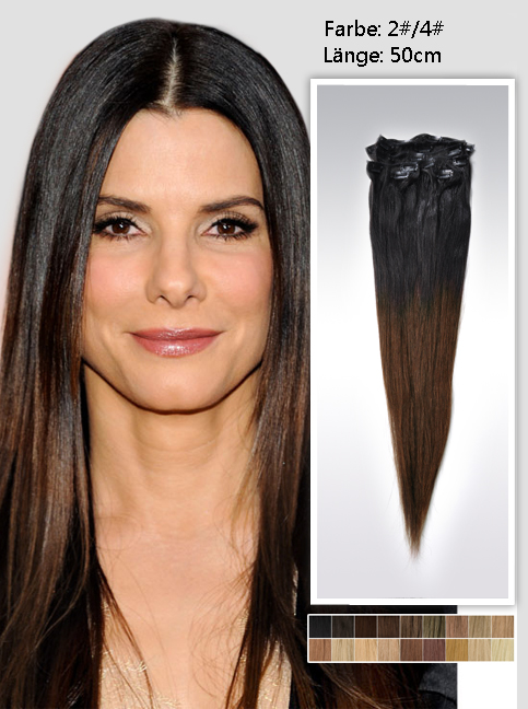 50cm Indian Remy Haar Extensions mit Clips gso220 (115g)