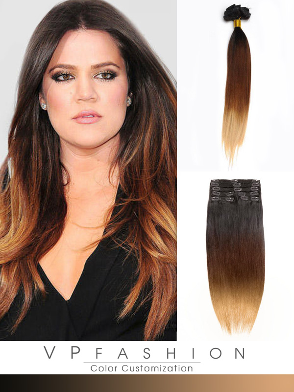 50cm Indian Remy Haar Extensions mit Clips gso520 (115g)