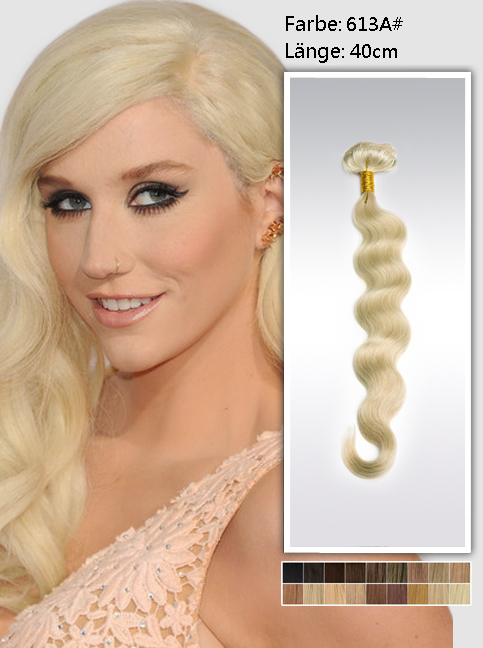 40cm 613a# Indian Remy Haar Extensions mit Clips gw613a16 (95g)