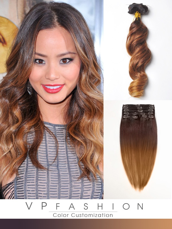 50cm Indian Remy Haar Extensions mit Clips gwo420 (115g)