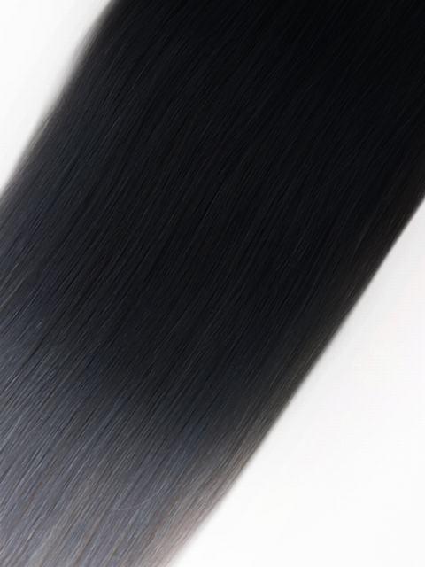 Echthaar extensions bondings grau